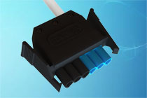 6 pole gst black / blue side latching leads